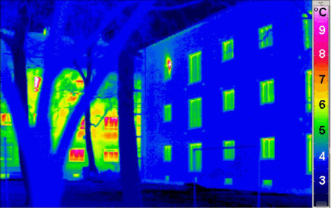 thermograph passive house