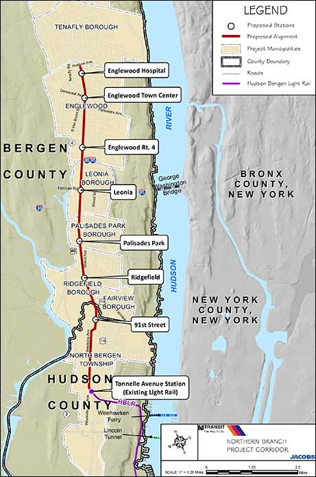hudson-bergen light rail expansion map