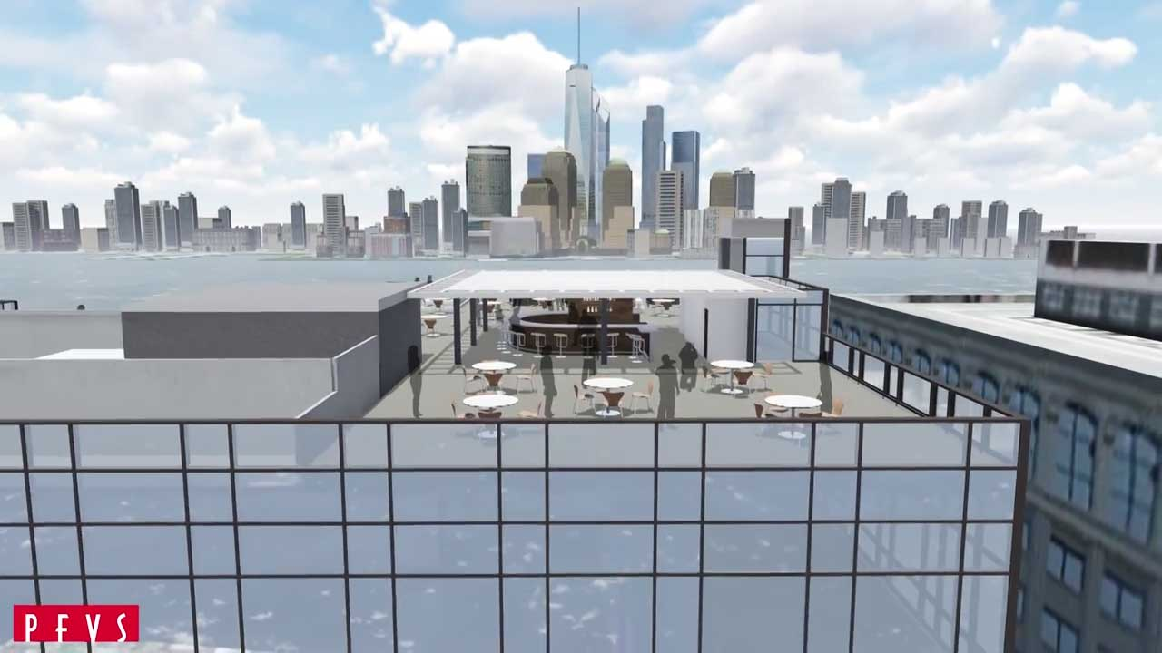 rooftop lounge hyatt jersey city