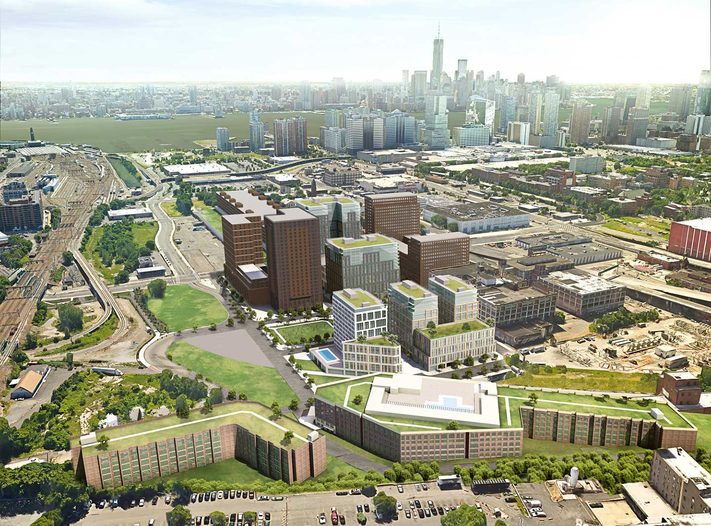 soho west jersey city aerial rendering