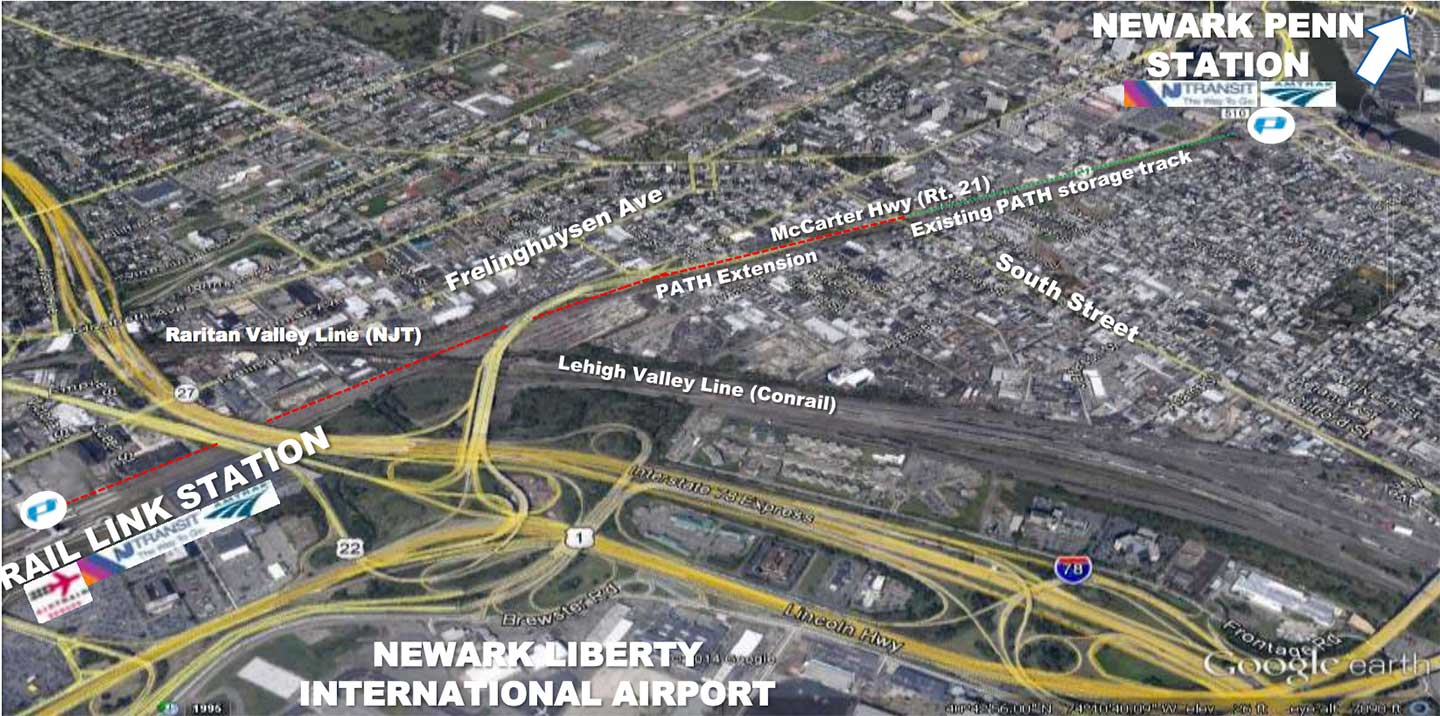 path train to newark airport