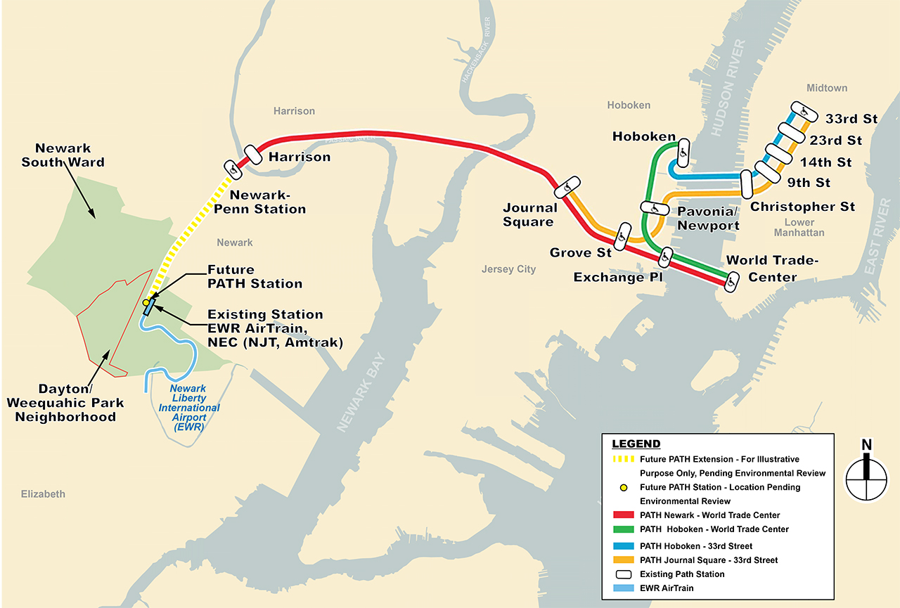 Port Authority Holding Hearings On PATH Extension To Newark Airport