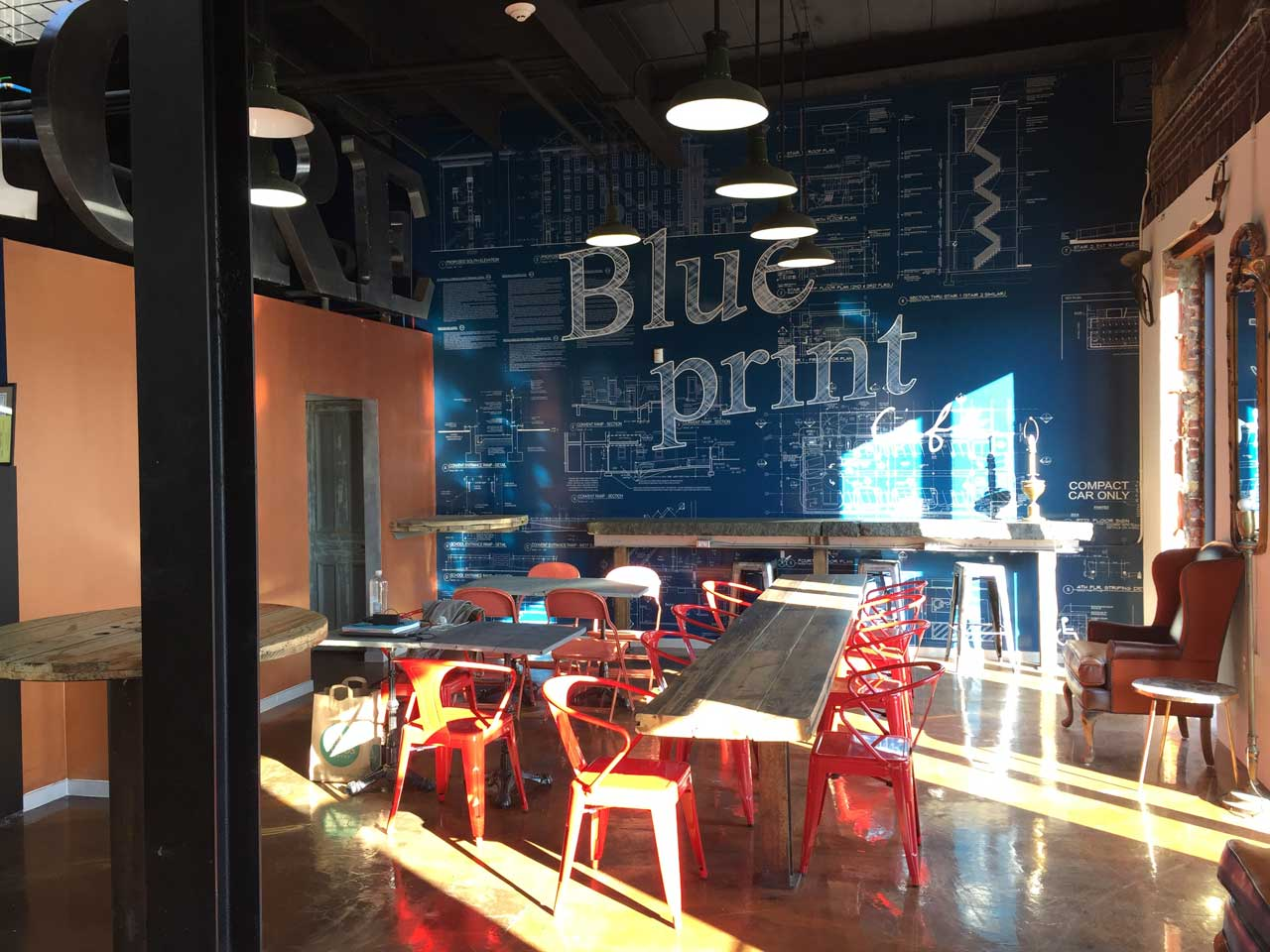 Blueprint caf opening in newark this week jersey digs blueprint cafe 369 raymond boulevard newark interior malvernweather Image collections