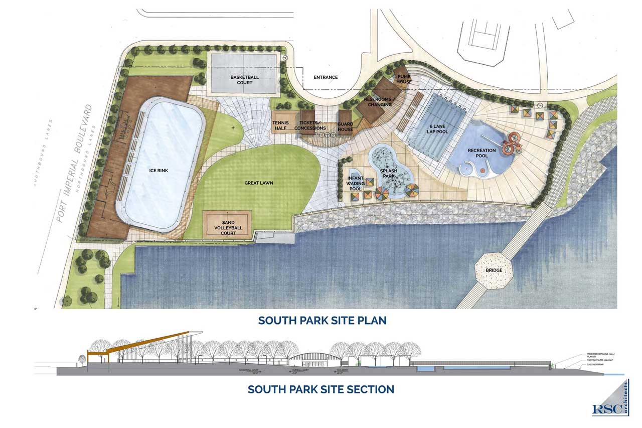Weehawken Waterfront Recreational Park Plan Rsc Architects