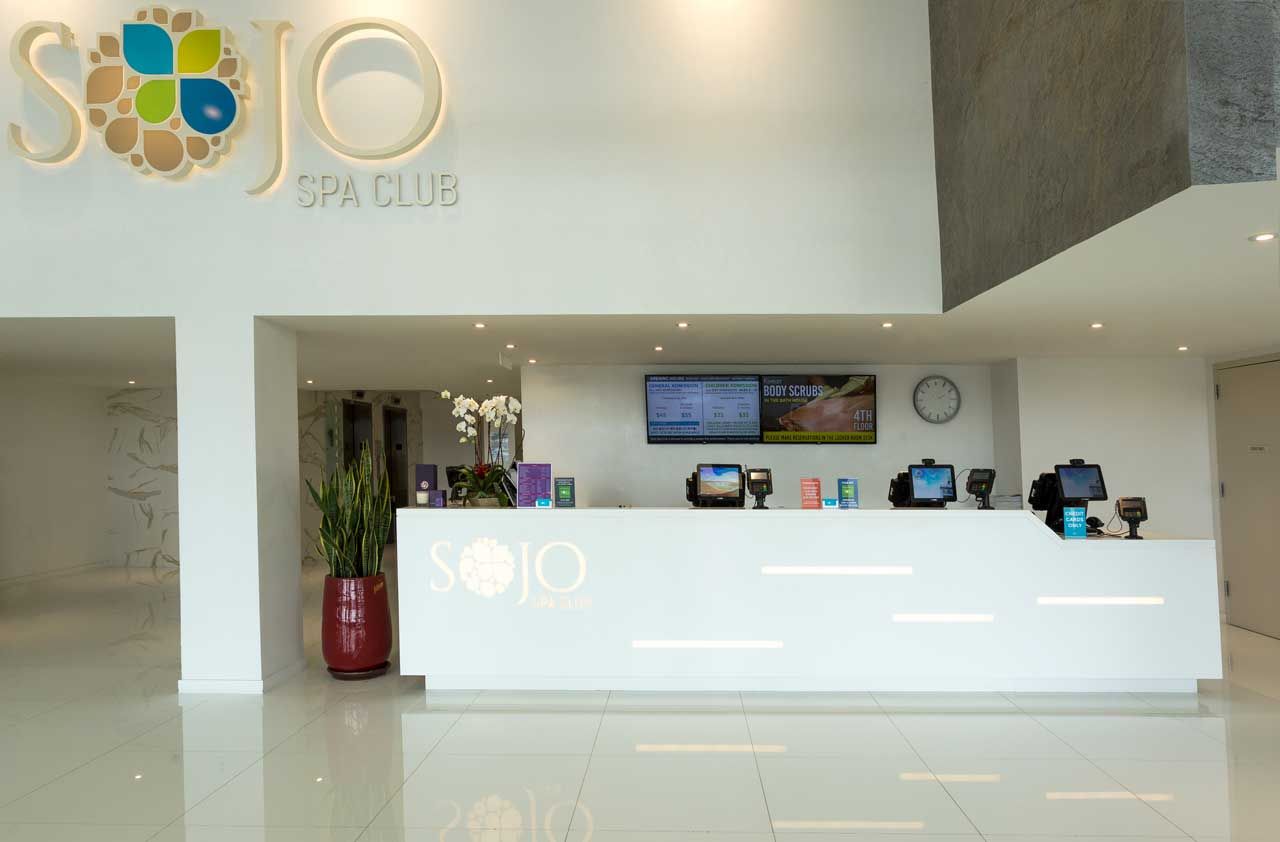 Sojo Spa Club Porcelanosa Edgewater Reception