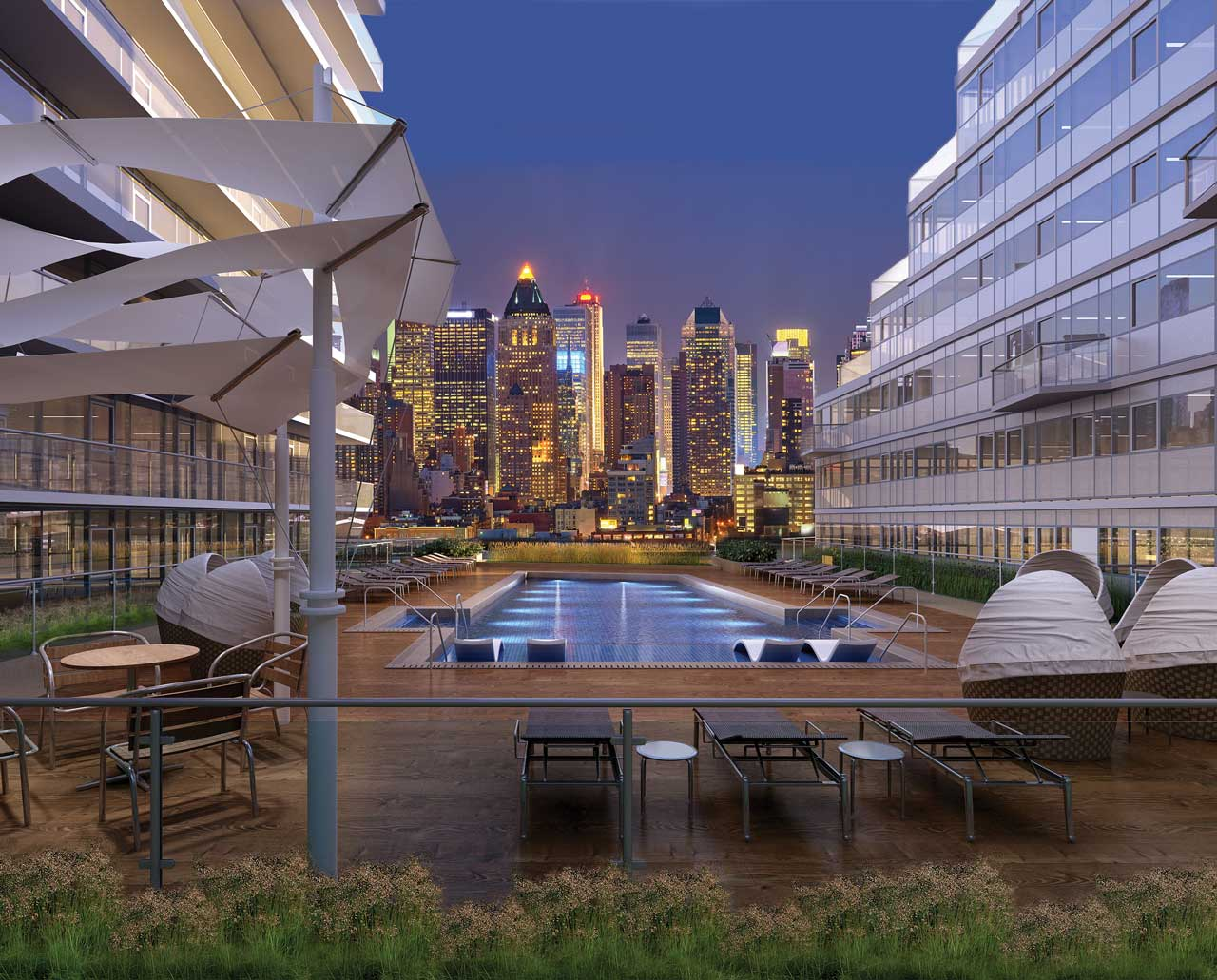 Avora Port Imperial Weehawken Pool Deck