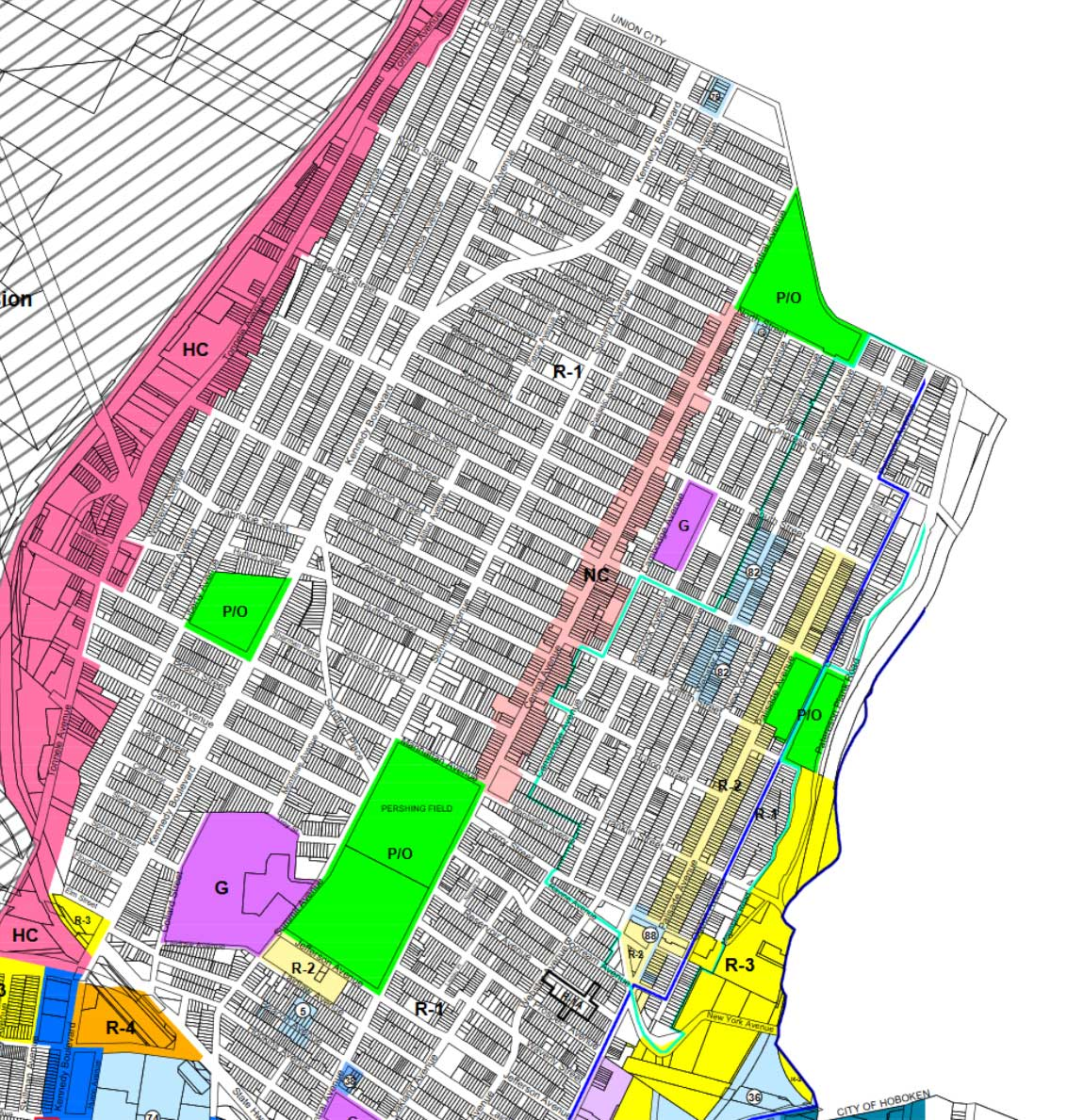 The Heights Jersey City Zoning Map