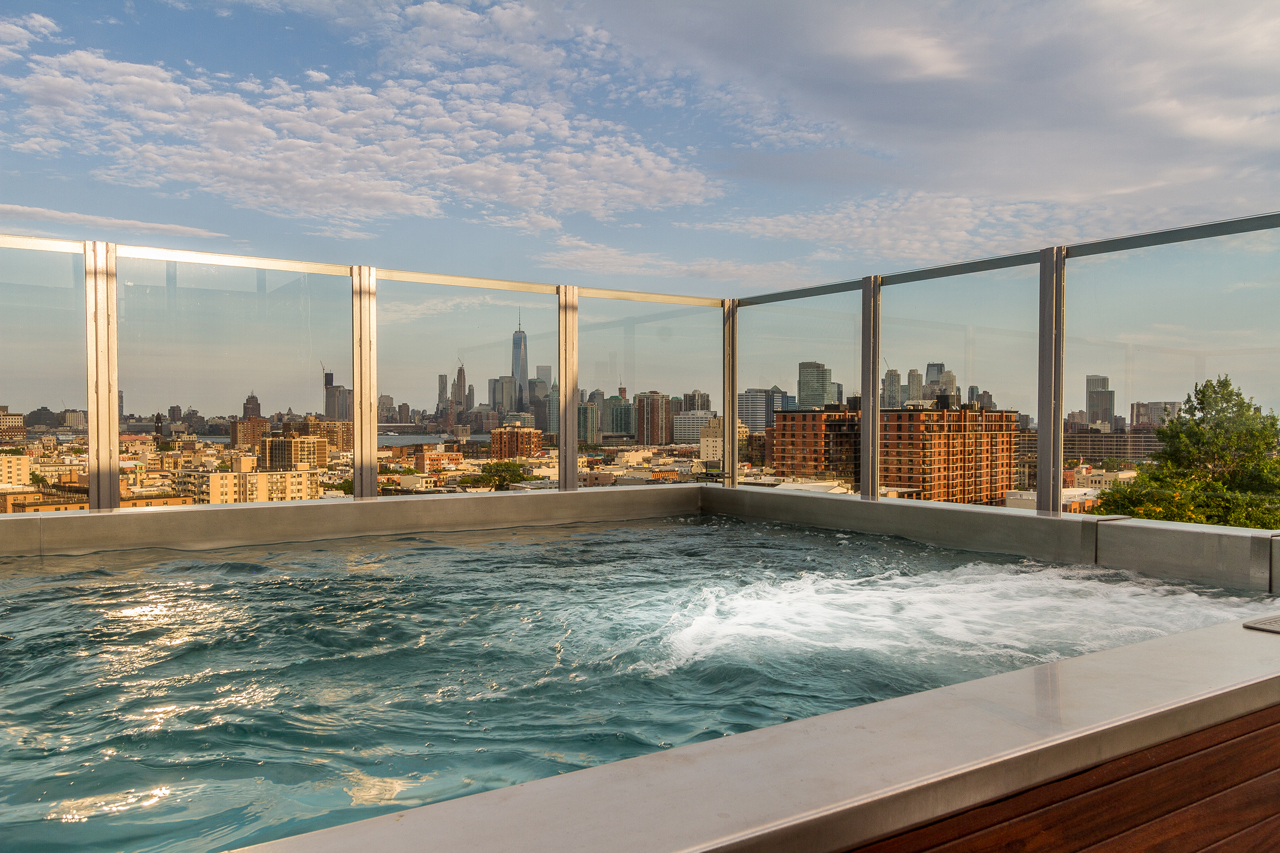 Nfl star 39 s jersey city penthouse complete with private Union city swimming pool rec union city nj