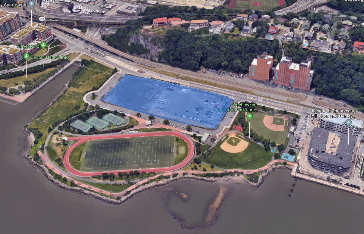 Weehawken Development Mack Cali Waterfront Park