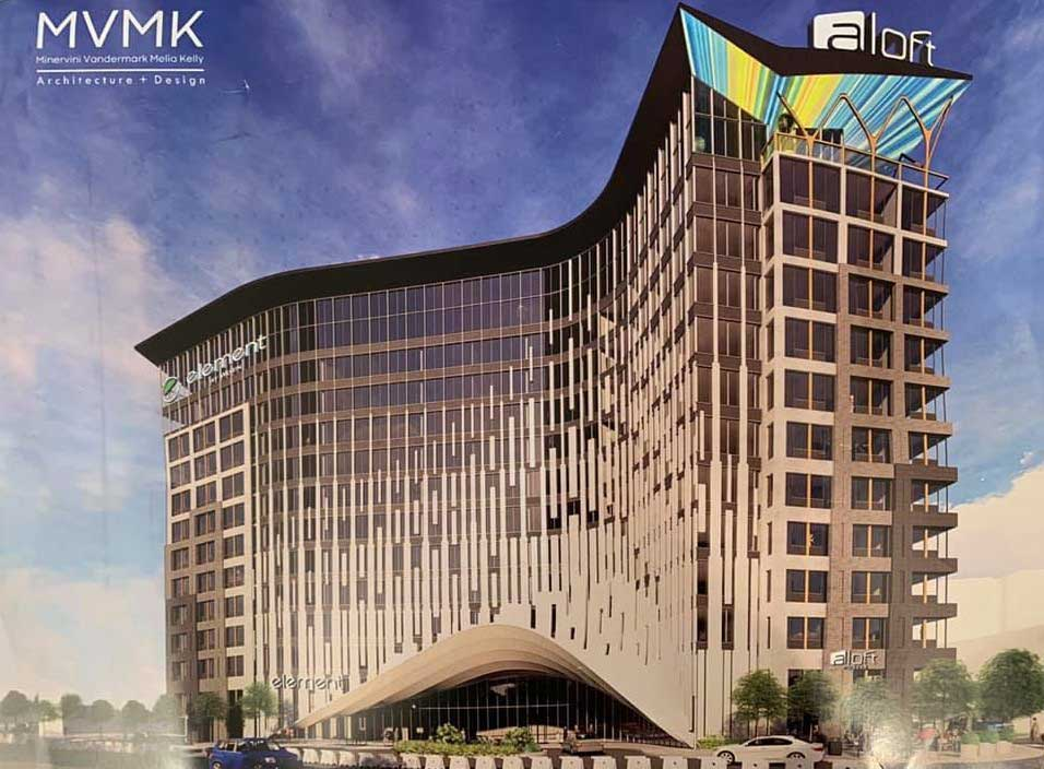 Aloft Rendering Hotel 15 Nardone Place Jersey City