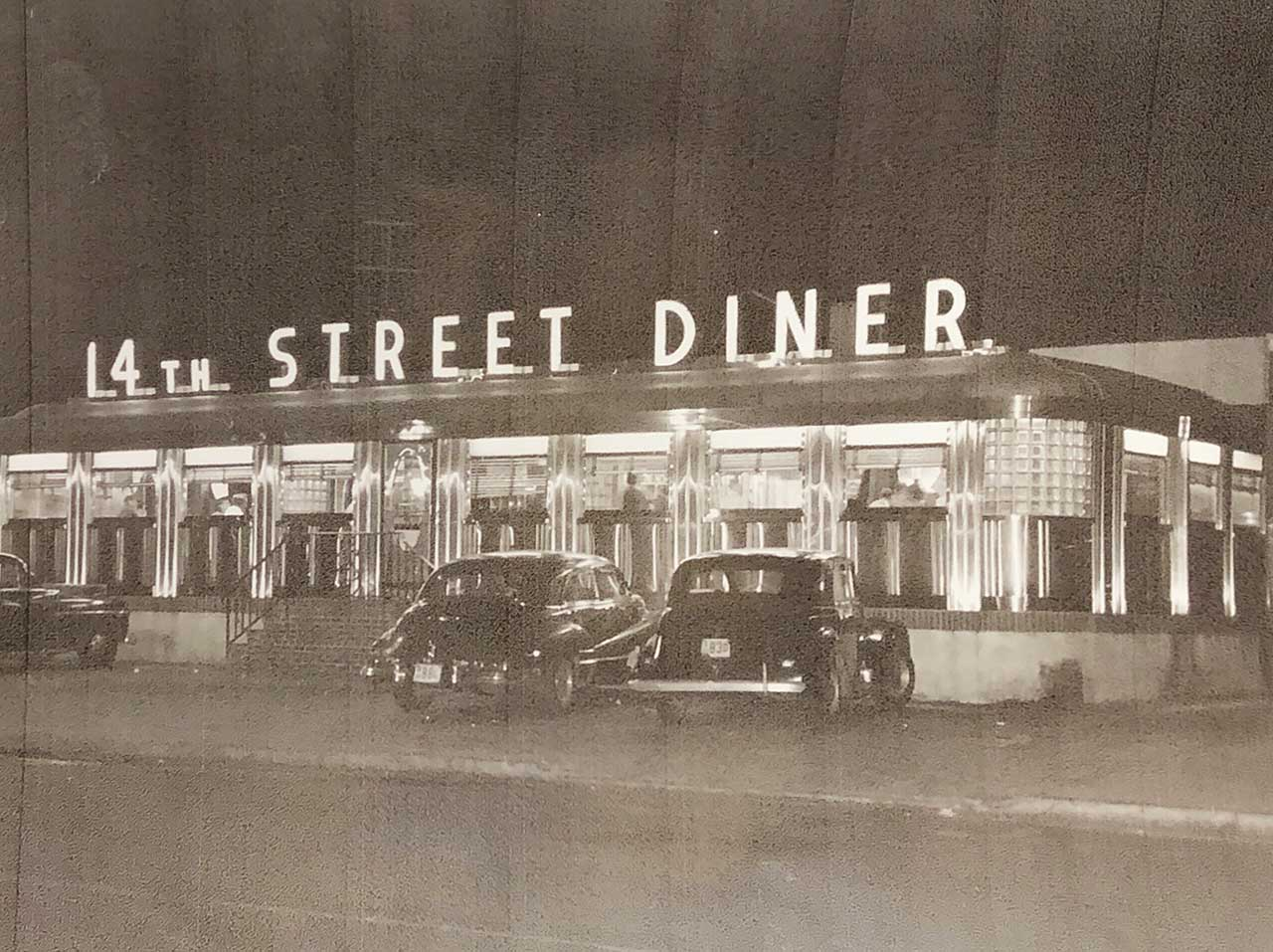 Malibu 14th Street Diner Hoboken Historic Photo