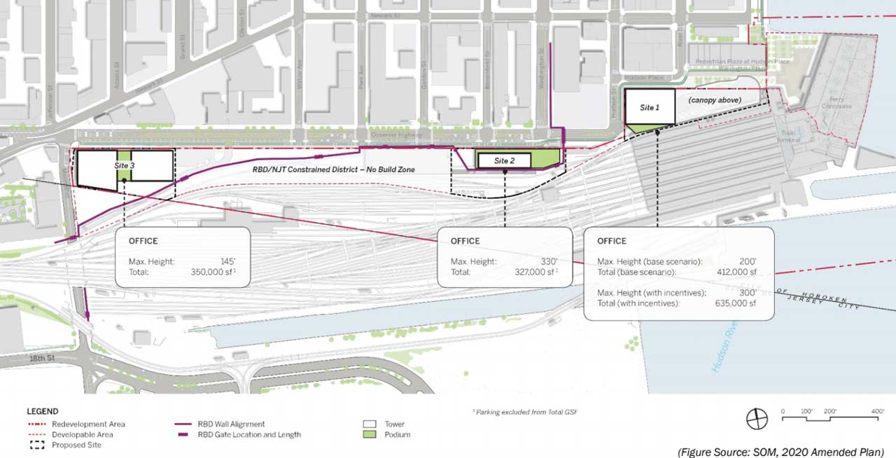 Hoboken Yard Redevelopment Plan Sites