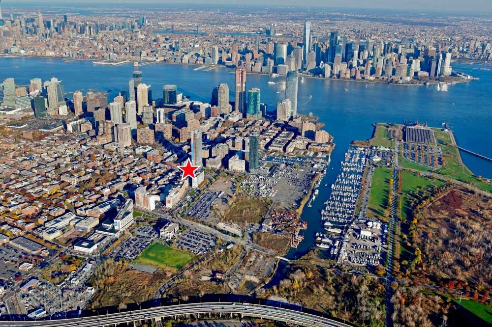101 Grove Street Jersey City Aerial