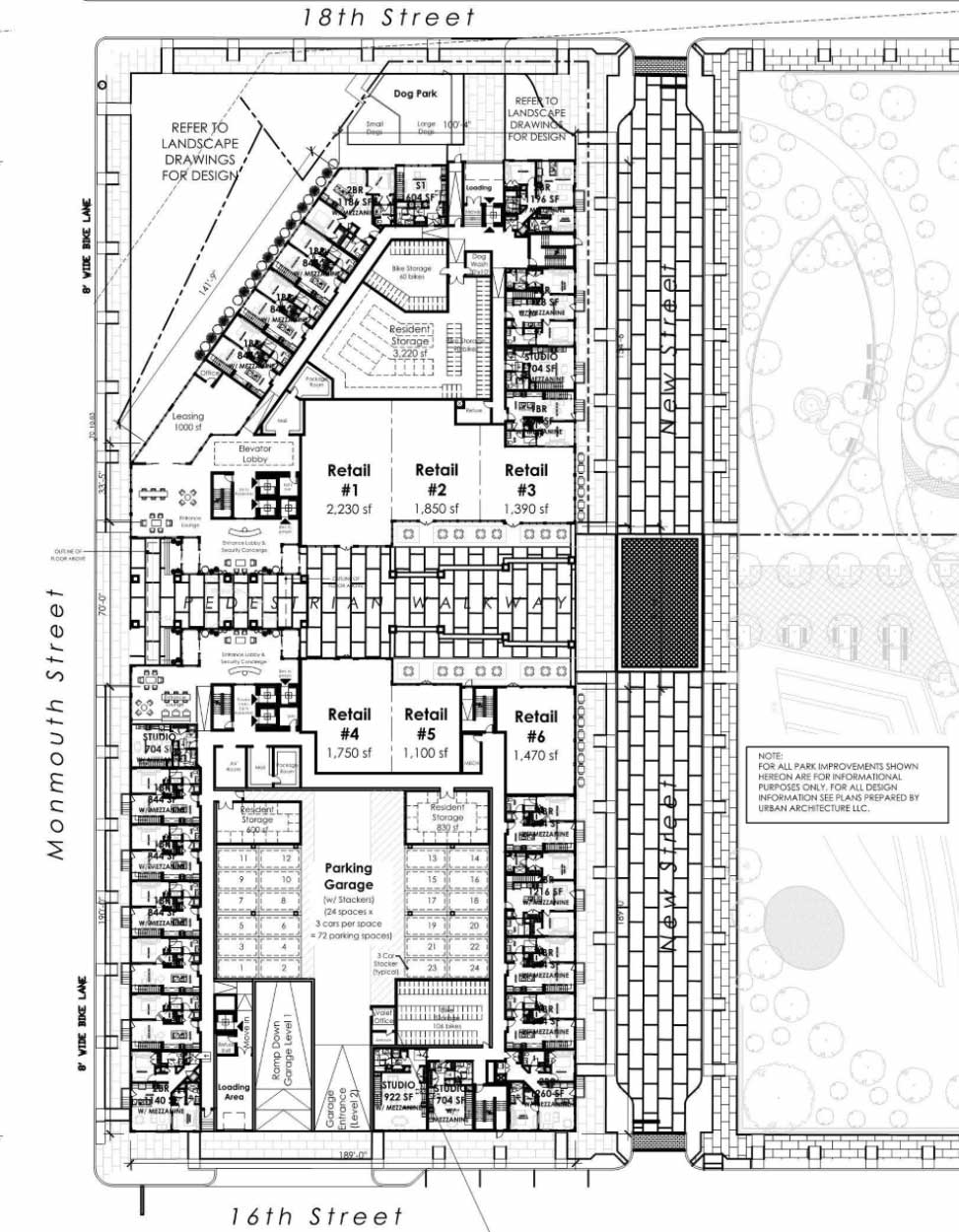 305 Coles Street Jersey City Retail Site Plan
