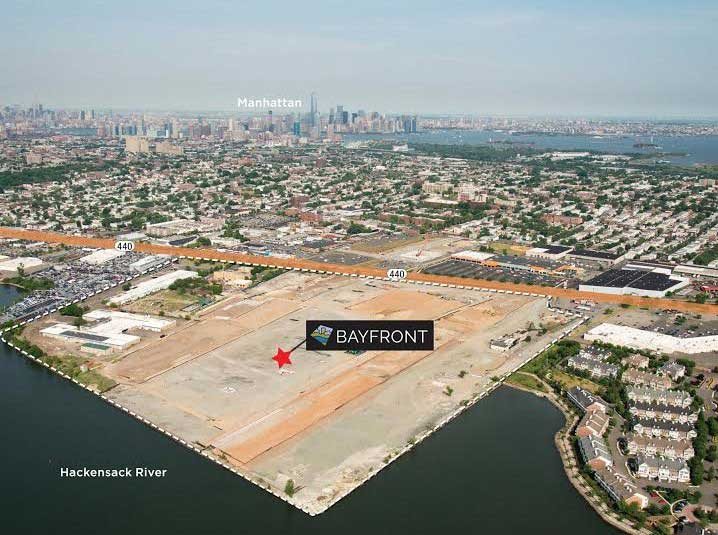 Bayfront Jersey City Development Aerial Site