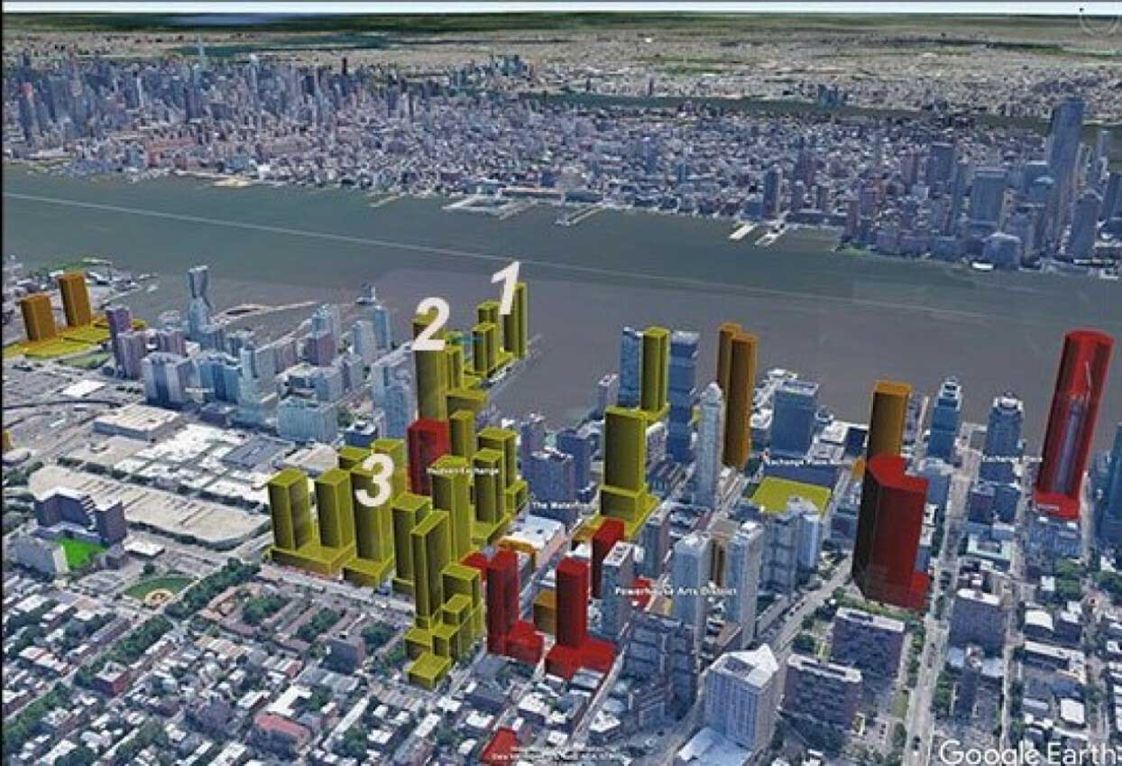 Downtown Jersey City Development Map 2