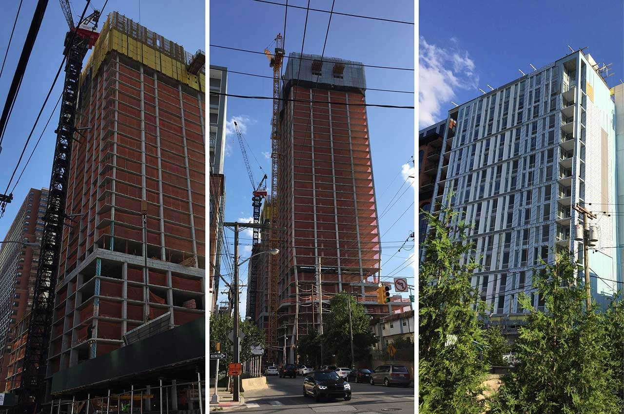 Downtown Jersey City Highrises Under Construction