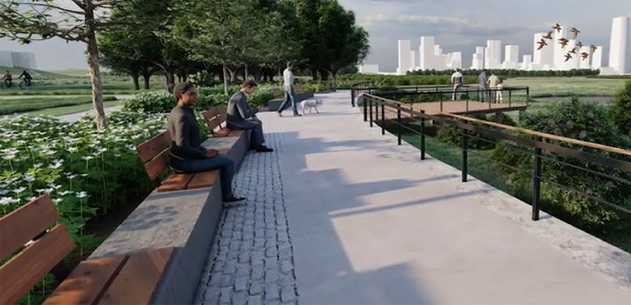 Liberty State Park Tidalmarch Render