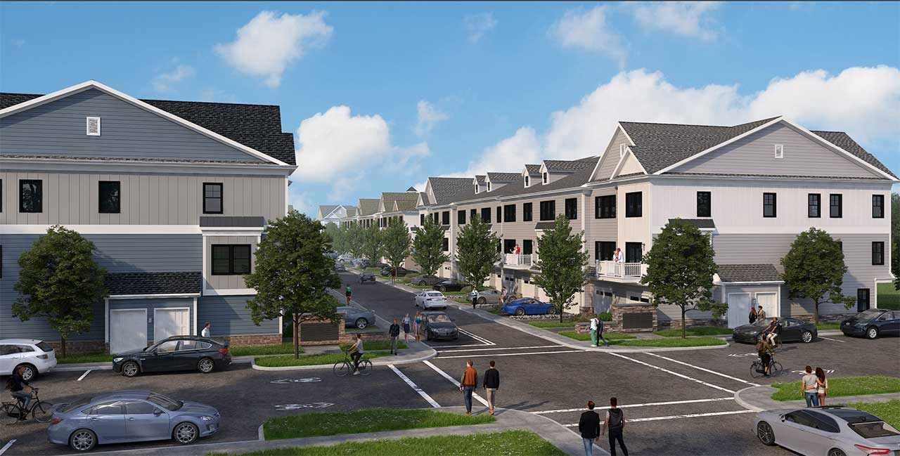 Duck Pond Development 3478 Route 1 West Windsor Alley Rendering