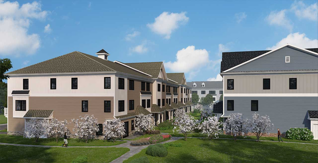 Duck Pond Development 3478 Route 1 West Windsor Courtyard Rendering