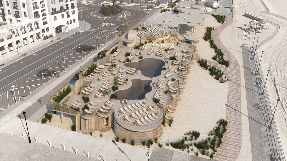 Aerial Of Proposed Asbury Beach Club 1500 Ocean Avenue